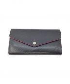 LOUIS VUITTON(ルイ ヴィトン)の古着「長財布」 ブラック×ピンク