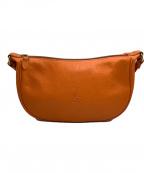 IL BISONTE(イルビゾンテ)の古着「ショルダーバッグ」|オレンジ