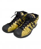adidas(アディダス)の古着「バスケットボールシューズ」|ゴールド×ブラック
