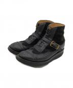 YUKETEN(ユケテン)の古着「SIERRA WINGTIP BOOTS」|ブラック