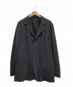 ARMANI COLLEZIONI(アルマーニ コレツィオーニ)の古着「ストライプテーラードジャケット」 ネイビー
