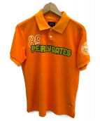 PEARLY GATES(パーリーゲイツ)の古着「ポロシャツ」|オレンジ