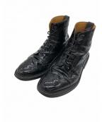 Tricker's(トリッカーズ)の古着「エナメルハイカットブーツ」 ブラック