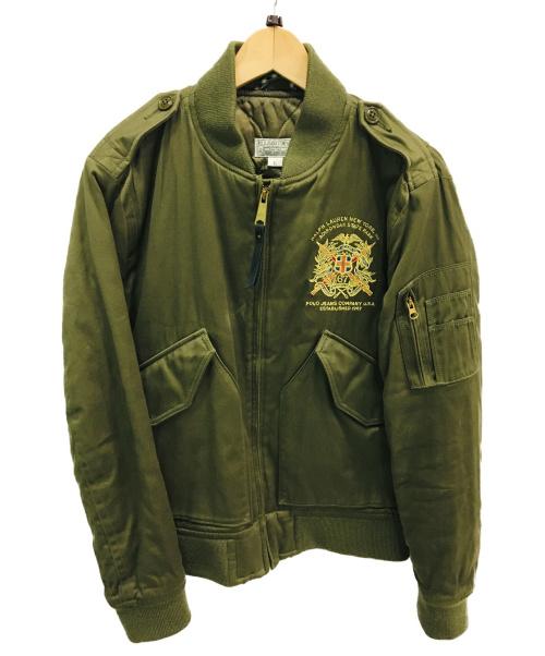 POLO JEANS CO.(ポロジーンズ)POLO JEANS CO. (ポロジーンズ) ミリタリーブルゾン オリーブ サイズ:Lサイズの古着・服飾アイテム