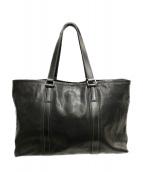 土屋鞄(ツチヤカバン)の古着「バッファロートートバッグ アルマス」|ブラック