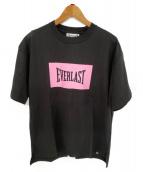 EVERLAST(エバーラスト)の古着「ボックスロゴTシャツ」 ブラック×ピンク