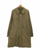 nestrobe confect(ネストローブ コンフェクト)の古着「枷染めステンカラーコート」 カーキ