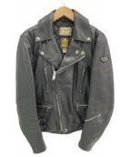 Lewis Leathers(ルイスレザーズ)の古着「ダブルライダースジャケット」|ブラック