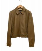 ()の古着「ラムレザージャケット」 ブラウン