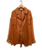 ()の古着「シースルージャケット」 オレンジ