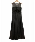 ()の古着「ビスチェ風パンツドレス」 ブラック