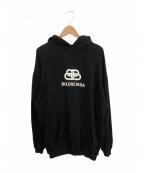 BALENCIAGA(バレンシアガ)の古着「BBロゴプリントパーカー」|ブラック