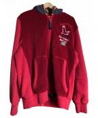 PARAJUMPERS(パラジャンパーズ)の古着「フリースパーカー」 レッド