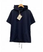 Engineered Garments(エンジニアドガーメンツ)の古着「半袖ジャージーパーカー」|ネイビー