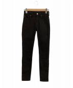 ()の古着「スキニーデニムパンツ」|ブラック