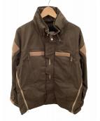 ()の古着「ワックスコートユニフォームジャケット」 ブラウン