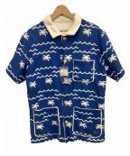 PEARLY GATES(パーリーゲイツ)の古着「パイルシャツ」|ブルー