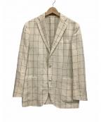 BOGLIOLI(ボリオリ)の古着「テーラードジャケット」 ホワイト