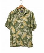 reyn spooner(レイン スプナー)の古着「オープンカラーシャツ」 グリーン×イエロー