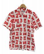 ()の古着「HIGH TIMES総柄半袖エンジニアシャツ」|レッド×ホワイト