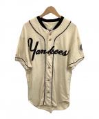 Cooperstown(クーパーズタウン)の古着「ベースボールシャツ」|ベージュ×ブラック