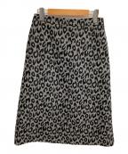 ADORE(アドーア)の古着「レオパード柄スカート」|グレー