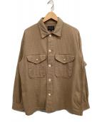 ()の古着「シャツジャケット」|ベージュ