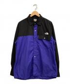 THE NORTH FACE(ザ ノース フェイス)の古着「ロングスリーブヌプシシャツ」 ブルー×ブラック