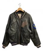 AVIREX()の古着「レザージャケット」|ブラック