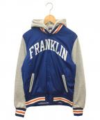 Franklin & Marshall(フランクリン&マーシャル)の古着「ナイロン切替フーディースタジャン」|ブルー×グレー