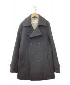 ()の古着「カシミヤ混Pコート」 ブラック
