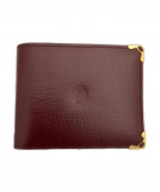 Cartier(カルティエ)の古着「2つ折り財布」 ボルドー