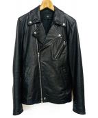 HARE(ハレ)の古着「ダブルライダースジャケット」|ブラック