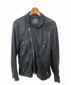 GRANT(グラント)の古着「レザージャケット」|ブラック
