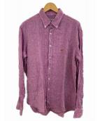 ETRO(エトロ)の古着「ボタンダウンリネンシャツ」|パープル