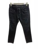 TMT(ティーエムティー)の古着「ダメージ加工デニムパンツ」|ブラック