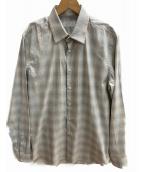 PRADA(プラダ)の古着「チェックシャツ」|グレー