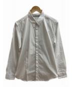 JOHN LAWRENCE SULLIVAN(ジョンローレンスサリバン)の古着「フライフロントシャツ」 ホワイト
