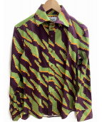 Vivienne Westwood man(ヴィヴィアンウエストウッドマン)の古着「長袖シャツ」|グリーン×パープル