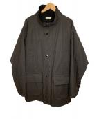 ()の古着「OILD OX 2WAYハンターコート」 チャコールグレー