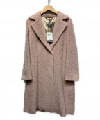 MARELLA(マレーラ)の古着「アルパカ混ロングコート」|ピンク
