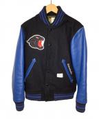 BEDWIN &THE HEARTBREAKERS(ベドウィンアンドザ ハートブレイカーズ)の古着「アワードジャケット」 ブラック×ブルー
