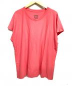 HOMME PLISSE ISSEY MIYAKE(オムプリッセイッセイミヤケ)の古着「半袖カットソー」 ピンク