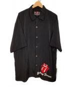 ()の古着「オープンカラーシャツ」 ブラック