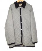 BURBERRY BLACK LABEL(バーバリーブラックレーベル)の古着「キルティングコート」 グレー