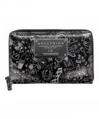 ANTEPRIMA(アンテプリマ)の古着「ラウンドファスナー長財布」 ブラック