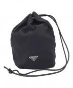 PRADA(プラダ)の古着「ナイロン巾着ポーチ ブラック」|ブラック