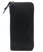corbo(コルボ)の古着「face ブライドルレザー ラウンドファスナー長財布」|ブラック