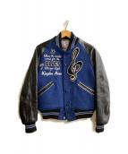 WHITESVILLE(ホワイツビル)の古着「レターマンジャケット」|ブルー×ブラック