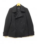 LOUNGE LIZARD(ラウンジリザード)の古着「Pコート」|ブラック